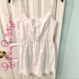 LILLY PULITZER White Eyelet Lace Dress Size 2